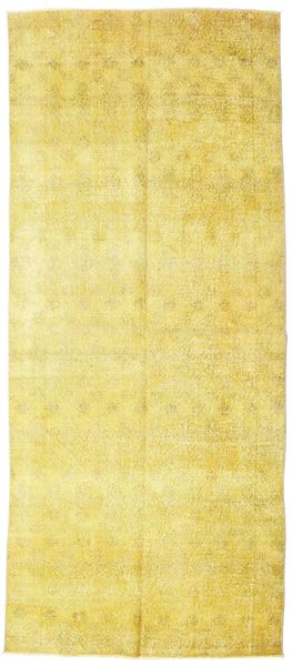 Colored Vintage Rug 144X341 Authentic  Modern Handknotted Hallway Runner  Yellow (Wool, Turkey)