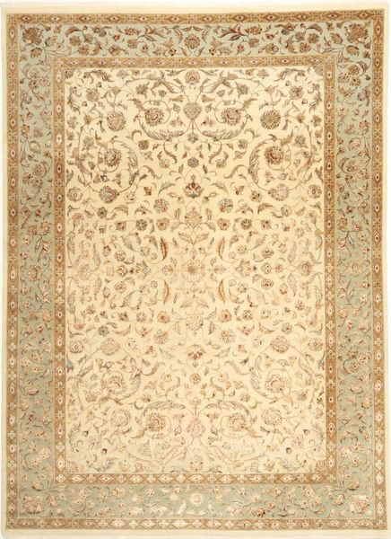 Tabriz Royal Magic Alfombra 209X289 Oriental Hecha A Mano Marrón Claro/Beige ( India)