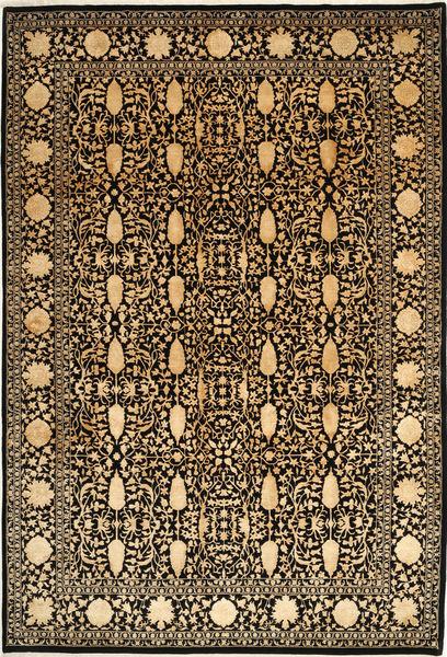 Tabriz Royal Magic Teppe 202X299 Ekte Orientalsk Håndknyttet Lysbrun/Mørk Brun ( India)