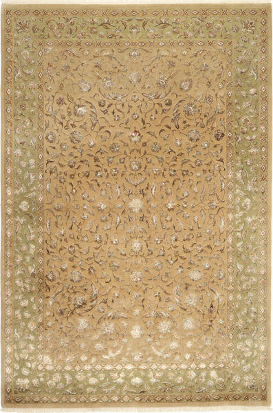 Tabriz Royal Magic Teppe 200X304 Ekte Orientalsk Håndknyttet Lysbrun ( India)