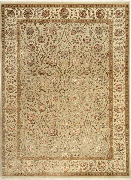 Tabriz Royal Magic Alfombra 208X287 Oriental Hecha A Mano Marrón Claro/Marrón ( India)