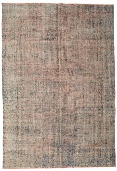 Colored Vintage Rug 188X270 Authentic  Modern Handknotted Light Brown/Light Grey (Wool, Turkey)
