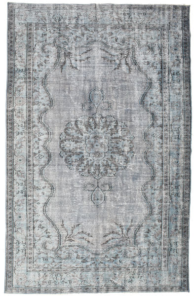 Colored Vintage Rug 185X290 Authentic  Modern Handknotted Light Blue/Light Grey (Wool, Turkey)