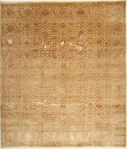 Tabriz Royal Magic Matto 254X292 Itämainen Käsinsolmittu Vaaleanruskea/Ruskea Isot ( Intia)