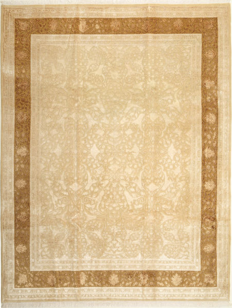 Tabriz Royal Magic Rug 236X302 Authentic  Oriental Handknotted Dark Beige/Light Brown ( India)