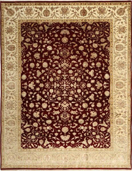 Tabriz Royal Magic Vloerkleed 244X315 Echt Oosters Handgeknoopt Donkerrood/Donkerbeige ( India)
