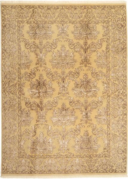 Tabriz Royal Magic Matto 171X236 Itämainen Käsinsolmittu Vaaleanruskea/Tummanbeige ( Intia)