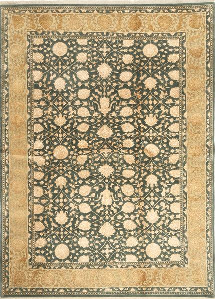 Tabriz Royal Magic Matto 173X243 Itämainen Käsinsolmittu Vaaleanruskea/Tummanharmaa ( Intia)