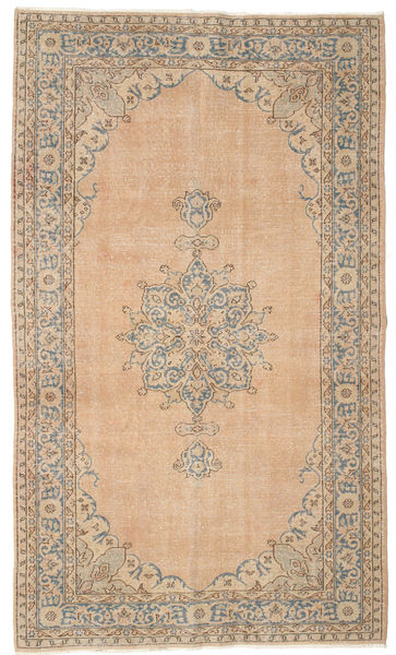 Colored Vintage Rug 150X258 Authentic  Modern Handknotted Light Brown/Light Pink (Wool, Turkey)