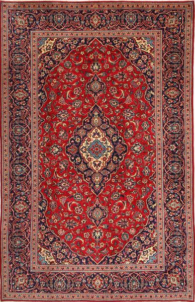Keshan Rug 197X307 Authentic  Oriental Handknotted Dark Red/Dark Blue (Wool, Persia/Iran)