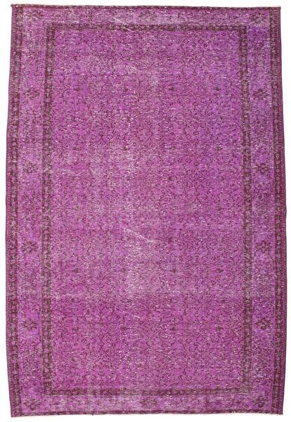 Colored Vintage Matto 168X247 Moderni Käsinsolmittu Pinkki/Tummanvioletti (Villa, Turkki)