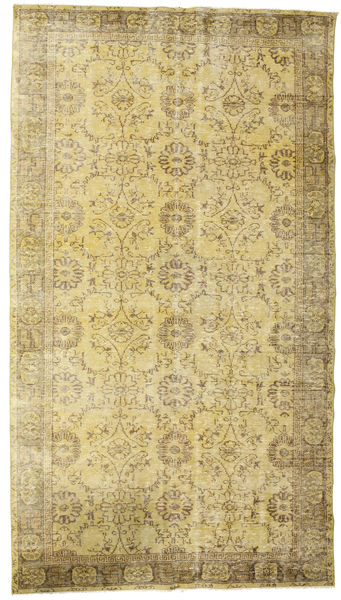 Colored Vintage Rug 178X319 Authentic  Modern Handknotted Yellow/Light Green (Wool, Turkey)
