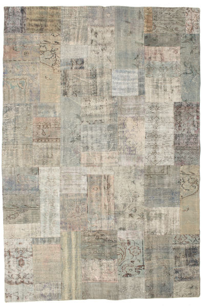 Patchwork Rug 200X299 Authentic  Modern Handknotted Light Grey/Light Brown (Wool, Turkey)