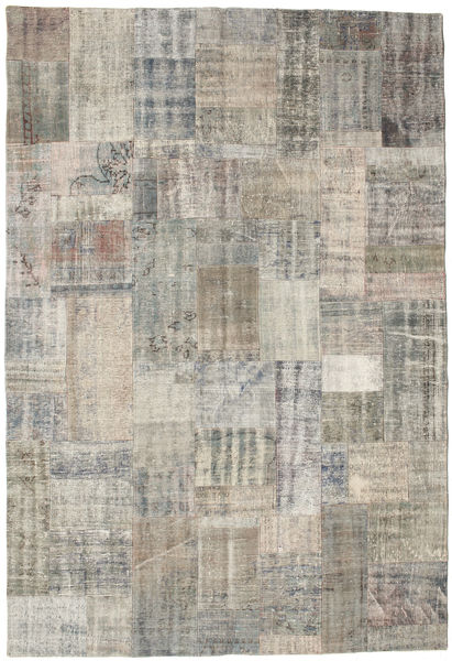 Patchwork Rug 203X300 Authentic  Modern Handknotted Light Grey/Light Brown (Wool, Turkey)