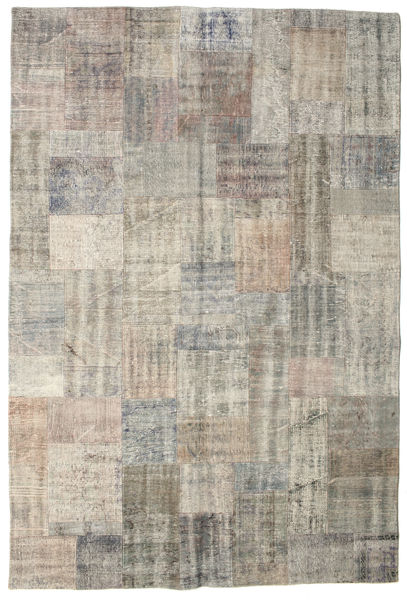 Patchwork Rug 203X301 Authentic  Modern Handknotted Light Grey/Light Brown (Wool, Turkey)