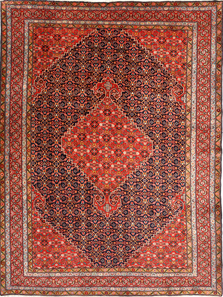 Ardebil Rug 203X295 Authentic  Oriental Handknotted Dark Red/Rust Red (Wool, Persia/Iran)