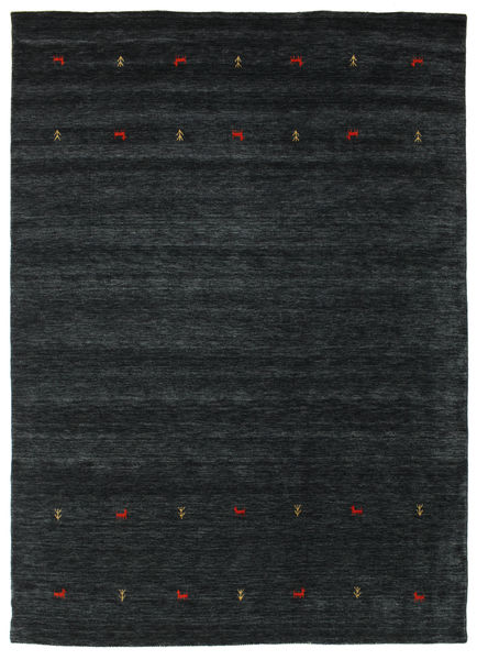 Gabbeh Loom Two Lines - Czarny/Szary Dywan 240X340 Nowoczesny Czarny (Wełna, Indie)