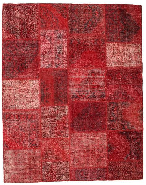 Patchwork Rug 198X251 Authentic  Modern Handknotted Dark Red/Rust Red (Wool, Turkey)