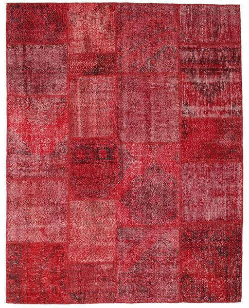 Patchwork Dywan 198X252 Nowoczesny Tkany Ręcznie Ciemnoczerwony/Czerwony (Wełna, Turcja)