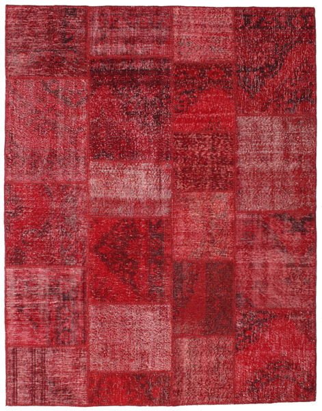 Patchwork Rug 197X251 Authentic  Modern Handknotted Dark Red/Crimson Red (Wool, Turkey)