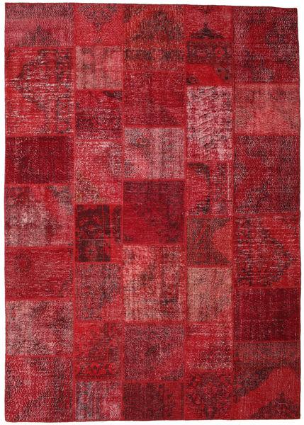パッチワーク 絨毯 248X351 モダン 手織り 深紅色の/赤 (ウール, トルコ)