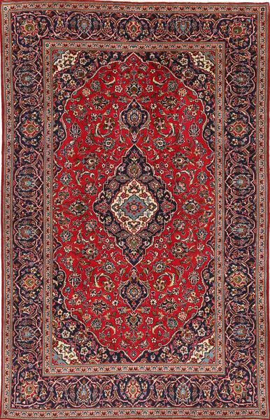 Keshan Rug 195X307 Authentic  Oriental Handknotted Dark Red/Brown (Wool, Persia/Iran)