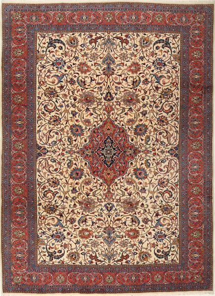 Sarough Matto 255X355 Itämainen Käsinsolmittu Vaaleanruskea/Musta Isot (Villa, Persia/Iran)