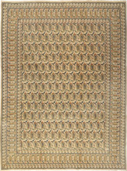 カシャン 絨毯 277X376 オリエンタル 手織り 暗めのベージュ色の/薄茶色 大きな (ウール, ペルシャ/イラン)
