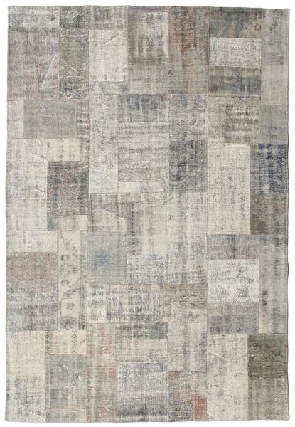 Patchwork Rug 203X302 Authentic  Modern Handknotted Light Grey/Light Brown (Wool, Turkey)