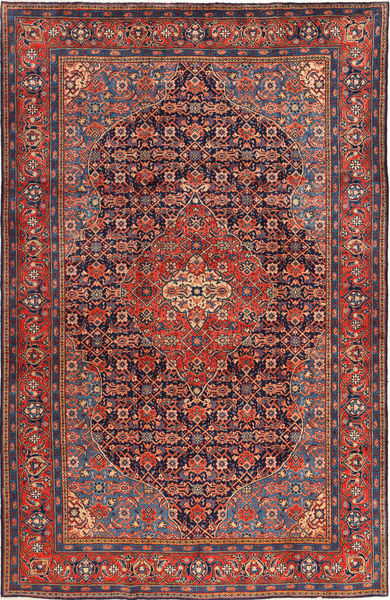 Mahal Rug 228X350 Authentic  Oriental Handknotted Brown/Dark Red (Wool, Persia/Iran)