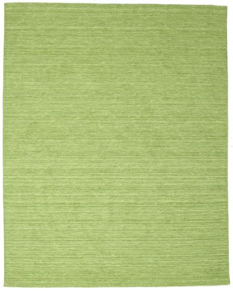 Kilim Loom - Green Rug 200X250 Authentic  Modern Handwoven Light Green/Olive Green (Wool, India)