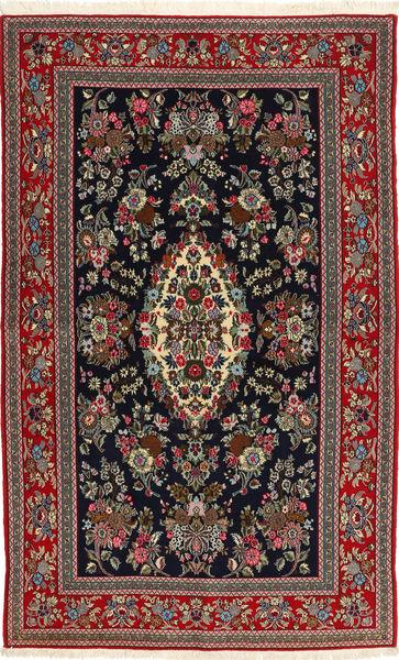 Ghom Sherkat Farsh Matto 149X250 Itämainen Käsinsolmittu Musta/Tummanharmaa (Villa, Persia/Iran)