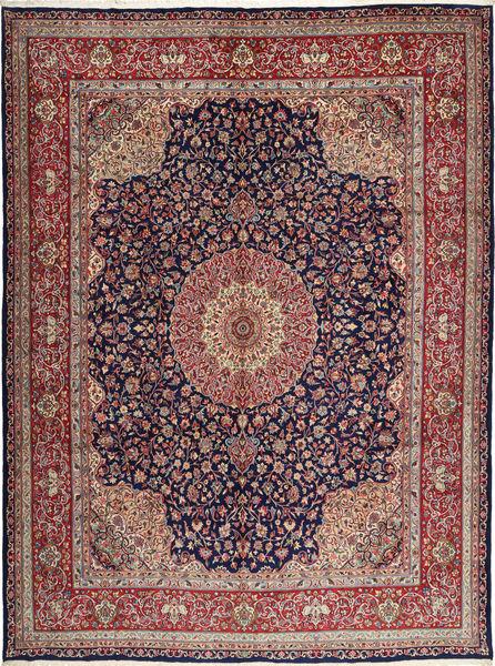 Kerman Sherkat Farsh Matto 308X405 Itämainen Käsinsolmittu Tummanvioletti/Vaaleanruskea Isot (Villa, Persia/Iran)