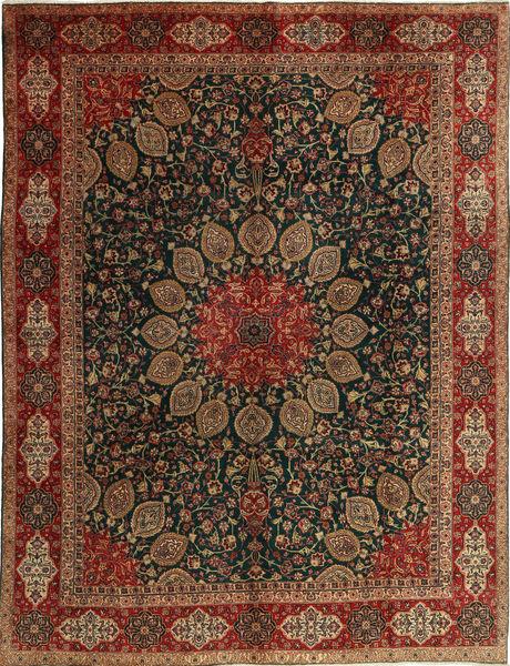 Tabriz Koberec 296X382 Orientální Ručně Tkaný Tmavě Červená/Černá Velký (Vlna, Persie/Írán)