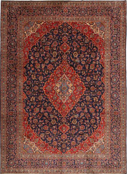 Keshan Rug 312X425 Authentic  Oriental Handknotted Dark Red/Dark Purple Large (Wool, Persia/Iran)