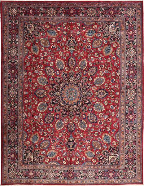 Mashad Matto 295X388 Itämainen Käsinsolmittu Tummanruskea/Tummanpunainen Isot (Villa, Persia/Iran)