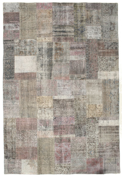 Patchwork Rug 201X298 Authentic  Modern Handknotted Light Grey/Dark Grey (Wool, Turkey)