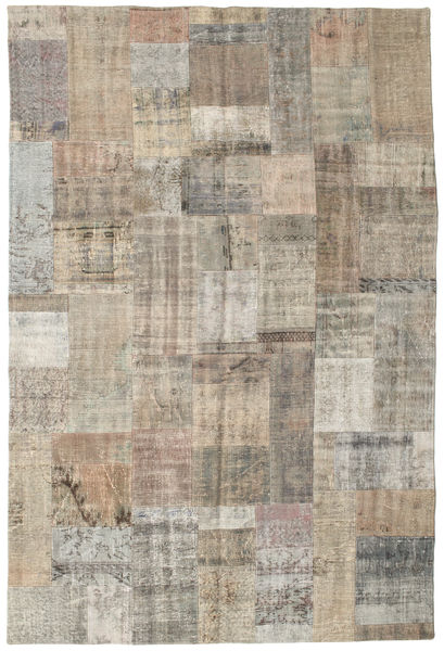 Patchwork Rug 200X300 Authentic  Modern Handknotted Light Brown/Light Grey (Wool, Turkey)