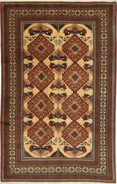 Ardebil Vloerkleed 166X257 Echt Oosters Handgeknoopt Lichtbruin/Bruin (Wol, Perzië/Iran)