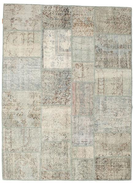 Patchwork Rug 171X231 Authentic  Modern Handknotted Light Grey/Dark Beige (Wool, Turkey)