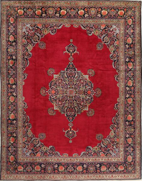 Keshan Matto 315X410 Itämainen Käsinsolmittu Tummanpunainen/Punainen Isot (Villa, Persia/Iran)