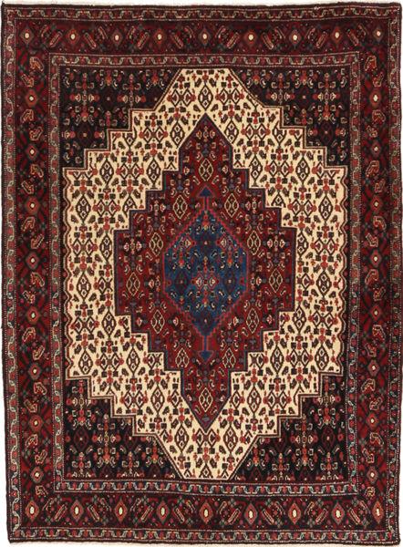 Senneh Vloerkleed 123X165 Echt Oosters Handgeknoopt Donkerrood/Donkerbruin (Wol, Perzië/Iran)