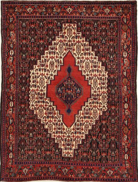 Senneh Matto 120X160 Itämainen Käsinsolmittu Tummanpunainen/Tummanruskea (Villa, Persia/Iran)