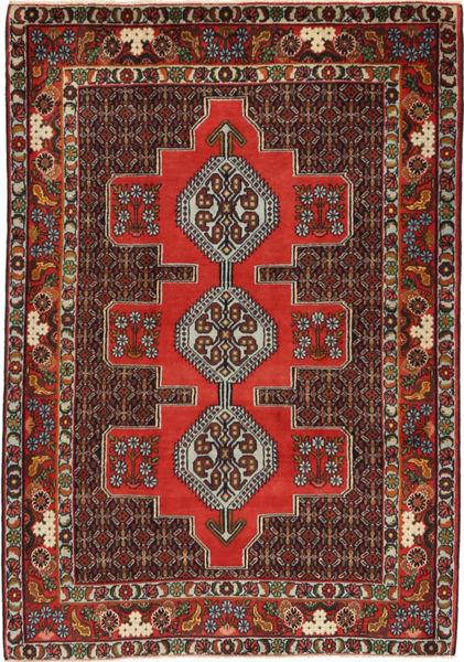 Senneh Matto 120X170 Itämainen Käsinsolmittu Tummanpunainen/Vaaleanruskea (Villa, Persia/Iran)
