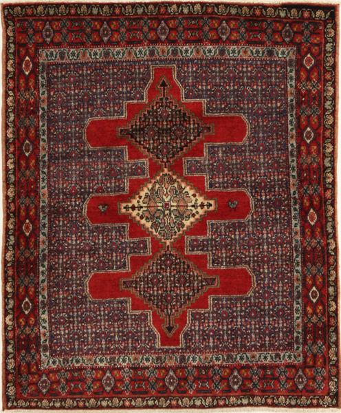 Senneh Alfombra 122X150 Oriental Hecha A Mano Rojo Oscuro/Marrón Oscuro (Lana, Persia/Irán)