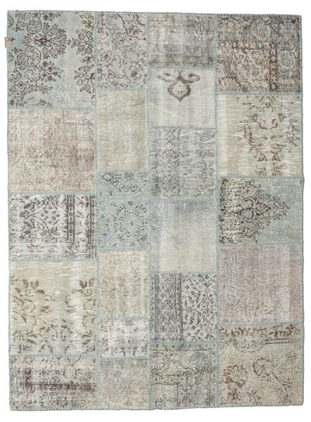Patchwork Rug 171X229 Authentic  Modern Handknotted Light Grey (Wool, Turkey)
