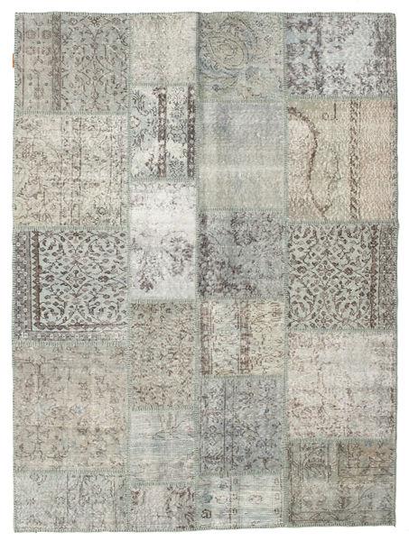 Patchwork Rug 172X231 Authentic  Modern Handknotted Light Grey/Dark Grey (Wool, Turkey)