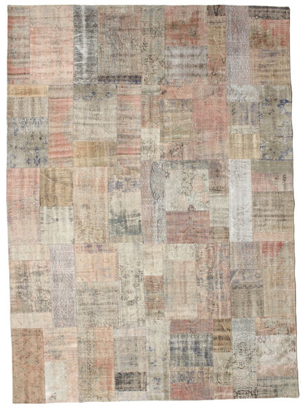 Patchwork Rug 253X351 Authentic  Modern Handknotted Light Brown/Light Grey Large (Wool, Turkey)