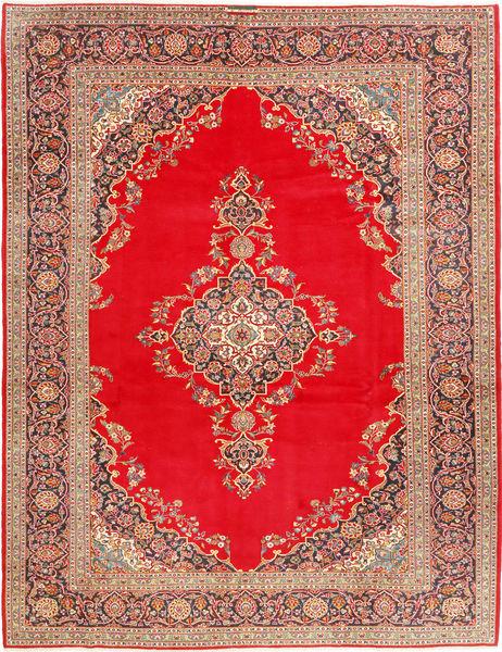 Keshan Matto 293X388 Itämainen Käsinsolmittu Vaaleanruskea/Punainen Isot (Villa, Persia/Iran)