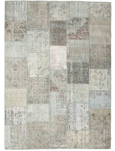 Patchwork Rug 251X351 Authentic  Modern Handknotted Light Grey/Beige Large (Wool, Turkey)